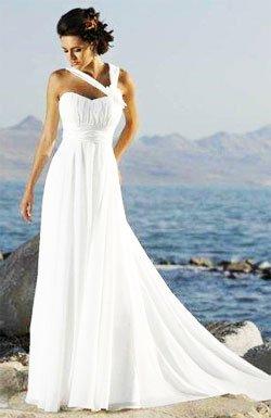 «Греческое» свадебное платье
