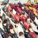 Южные открытые сандалии с загнутыми носами