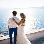 Символическая свадьба в Санторини