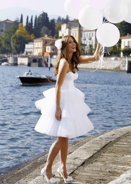 Свадебные платья короткое пляжное