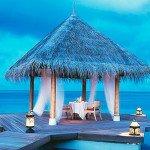 Фото ужина после свадьбы на Мальдивах