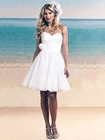 Короткие пышные свадебные платья фото