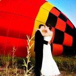 Фото свадебной церемонии на воздушном шаре