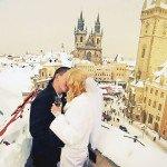 Свадьба в Чехии зимой