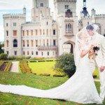 Фото влюблённых в пражском замке