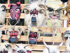 Болгарские сувениры - маски кукеров