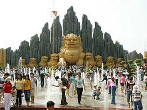 Парк развлечений в Хошимине Суйон Тьен