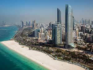 Пляжная зона в Абу-Даби