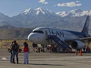 Посадка в перуанском аэропорту