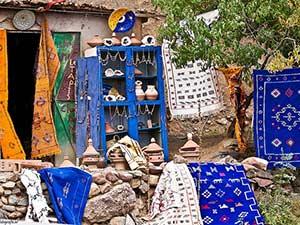 Ковры в берберской деревне